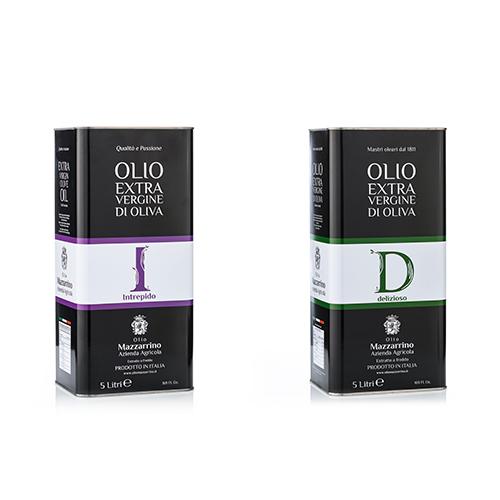 Olio extravergine di oliva ASSORTITO  D&I – 2 lattine da 5 litri