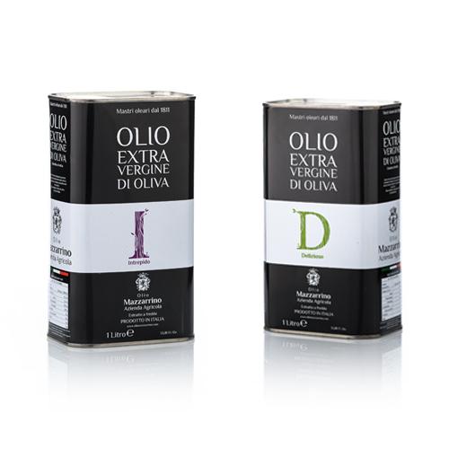 Olio extravergine di oliva ASSORTITO D&I – 6 lattine da 1 litro