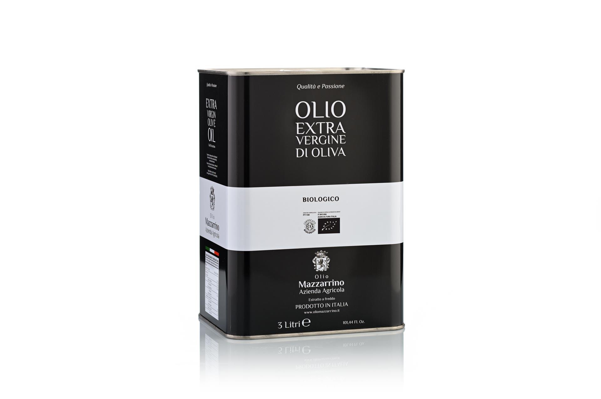 Olio extravergine di oliva Biologico – 4 lattine da 3 litri
