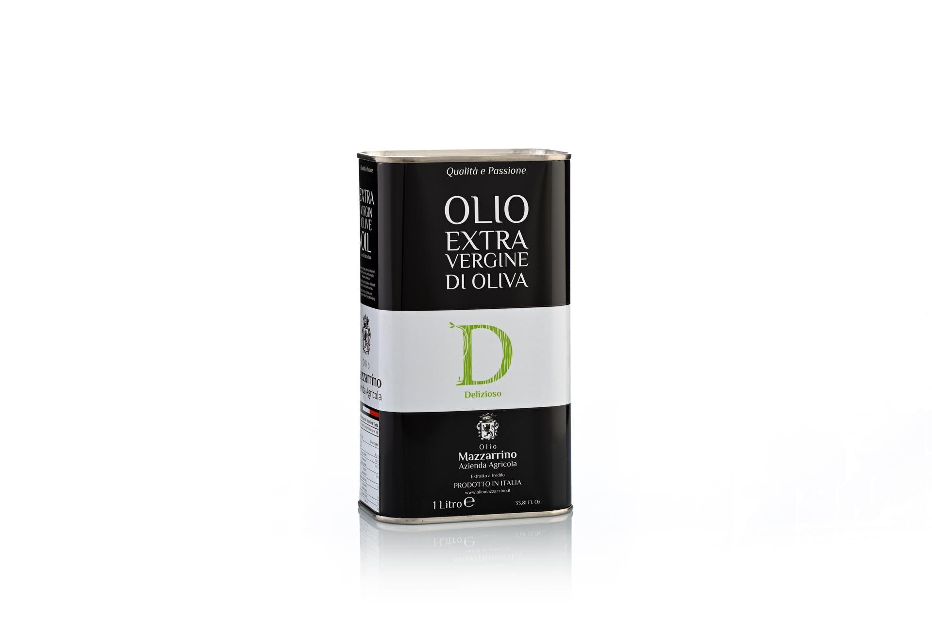 Olio extravergine di oliva DELIZIOSO – 6 lattine da 1 litro