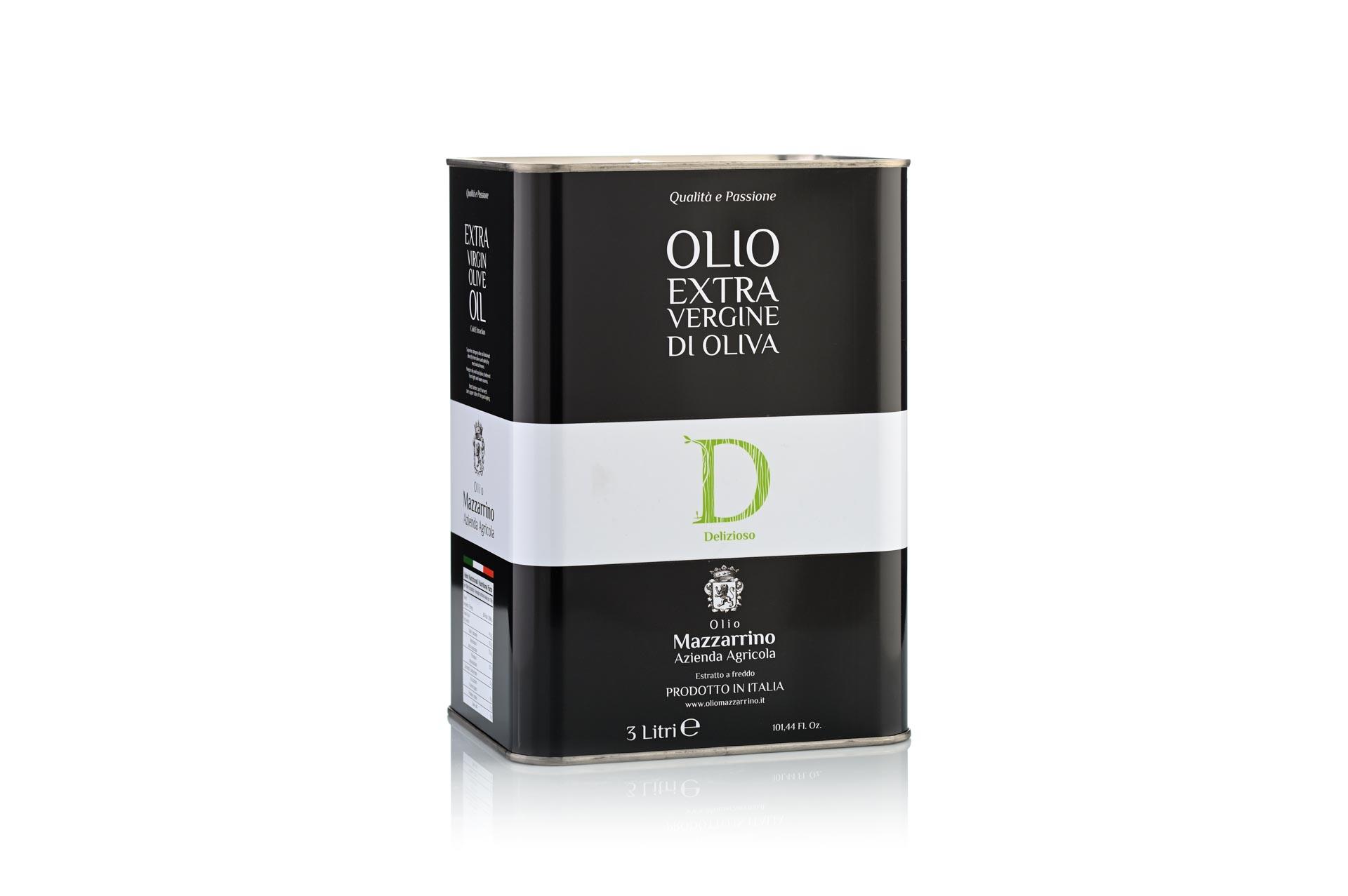 Olio extravergine di oliva DELIZIOSO – 2 lattine da 3 litri