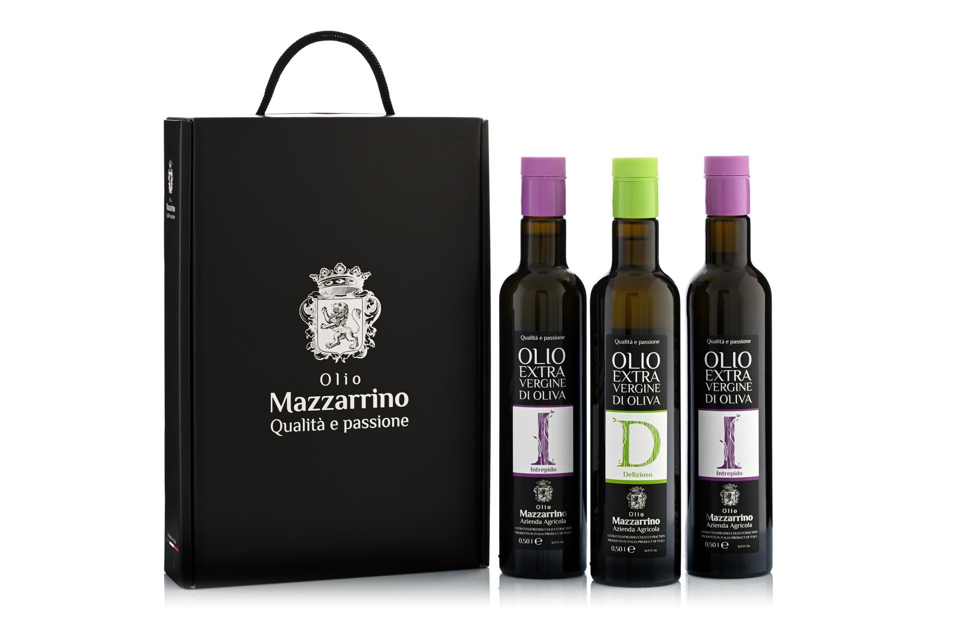 Confezione Regalo Olio Mazzarrino 3 x 500 ml
